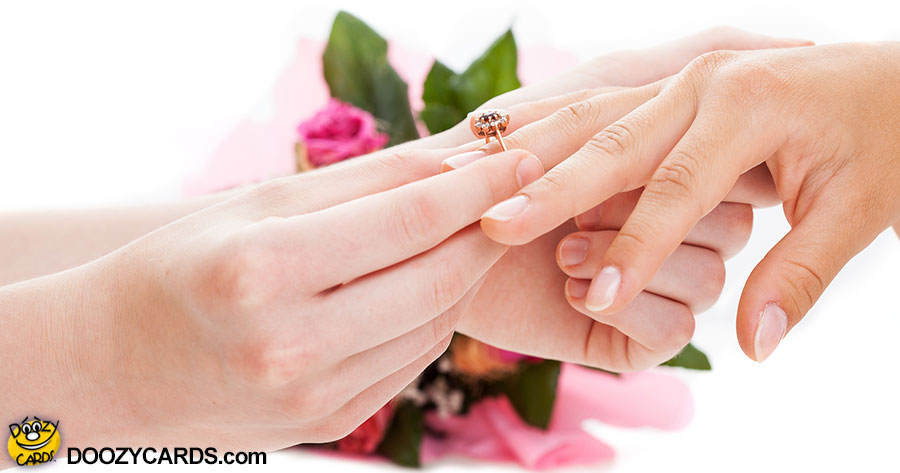 Engagement Congratulations for LGBT Brides