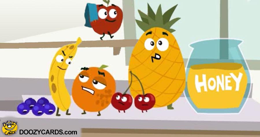 Rosh Hashana Fruit Battle