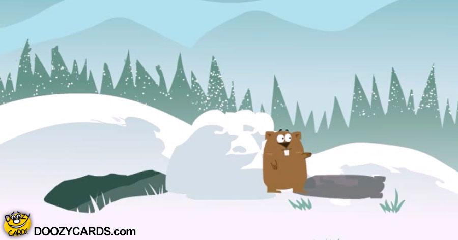 Groundhog Snow Drop