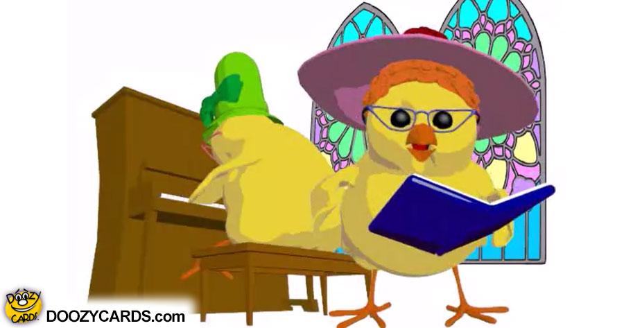 Easter Chicken Church Ladies