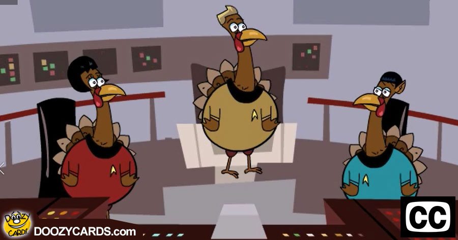 Star Turk - Thanksgiving ecard for the Deaf