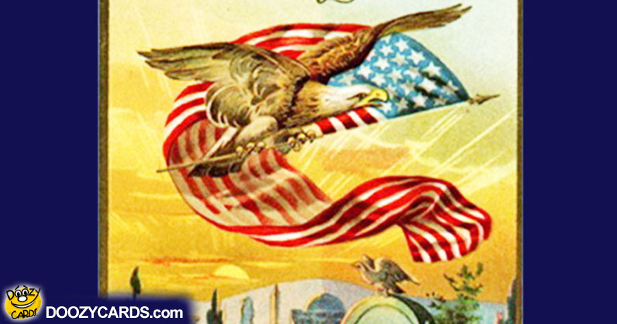 Old Tyme Memorial Day Card